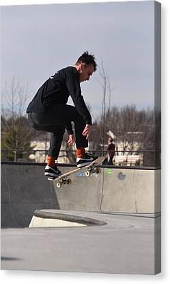 Skateboarding 28 Canvas Print by Joyce StJames