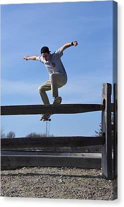 Skateboarding 31 Canvas Print by Joyce StJames
