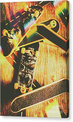 Skateboarding Tricks And Flips Canvas Print