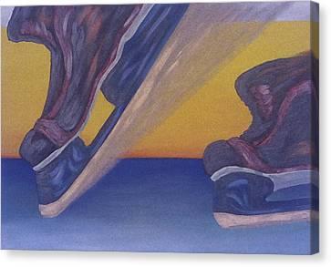 Skates Canvas Print by Ken Yackel