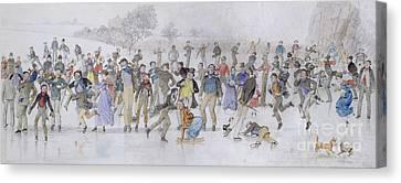 Skating Scene Canvas Print by Charles Altamont Doyle