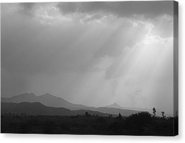 Skc 4928 Blessings Are Showering Canvas Print by Sunil Kapadia