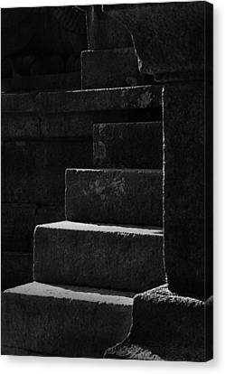 Forming Stones Canvas Print - Skc 8311 Texture And Lines by Sunil Kapadia
