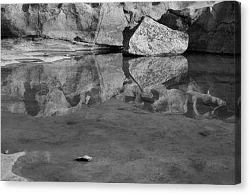 Forming Stones Canvas Print - Skc 8590 Rock Reflection by Sunil Kapadia
