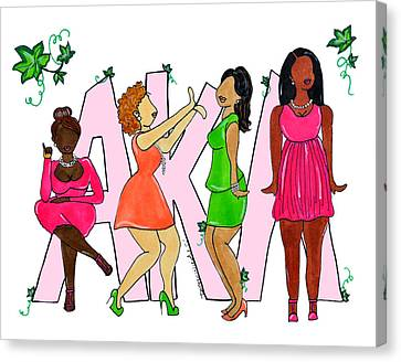Skee Wee My Soror Canvas Print by Diamin Nicole