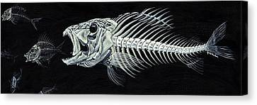 Skeletail Canvas Print by JoAnn Wheeler