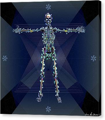 Skeletal System Canvas Print by Iowan Stone-Flowers