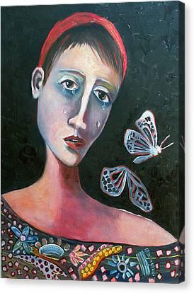 Skeleton Butterfly Canvas Print by Niki Sands