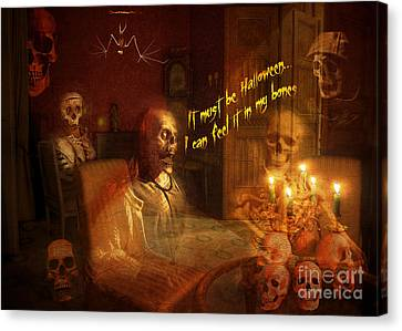 Skeleton Card 2016 Canvas Print