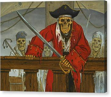 Skeleton Crew Canvas Print by Stacy Drum