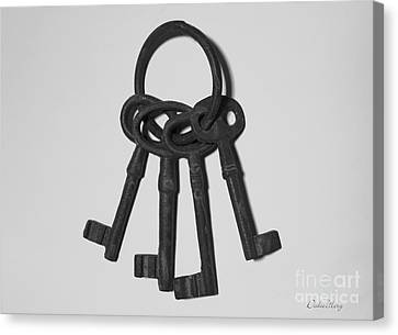 Canvas Print featuring the photograph Skeleton Keys by Dodie Ulery