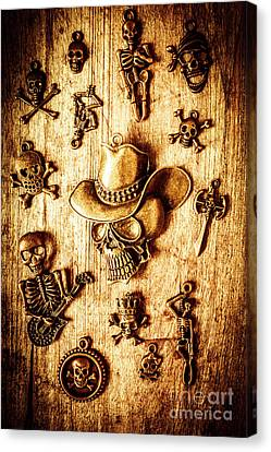 Skeleton Pendant Party Canvas Print by Jorgo Photography - Wall Art Gallery
