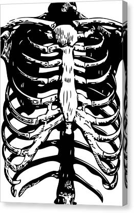 Skeleton Ribs Canvas Print by Eclectic at HeART