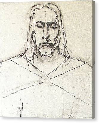 Sketch A Of Christ Canvas Print
