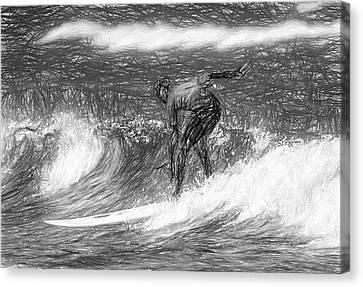 Sketch A Wave Canvas Print