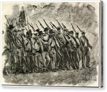 MISSISSIPPI RIFLES 115TH PAINTING US MILITARY HISTORY ART REAL CANVAS PRINT