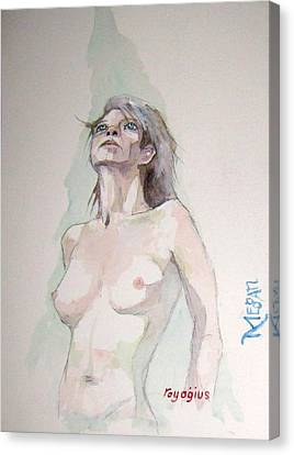 Canvas Print featuring the painting Sketch For Megan Iv by Ray Agius