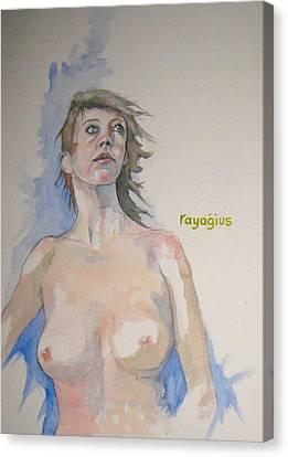 Sketch For Megan V Canvas Print by Ray Agius
