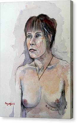 Canvas Print featuring the painting Sketch For White Amber by Ray Agius