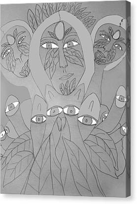 Sketch Idea For Wild Look Canvas Print by Betty  Roberts