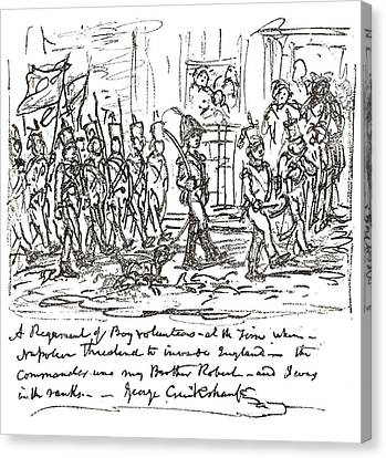 Sketch In Pen And Ink By George Canvas Print