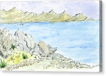 Salt Air Canvas Print - Sketchbook 048 by David King