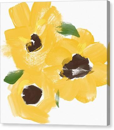 Sketchbook Sunflowers- Art By Linda Woods Canvas Print by Linda Woods