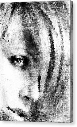 Sketched Charlize Canvas Print by Andrea Barbieri
