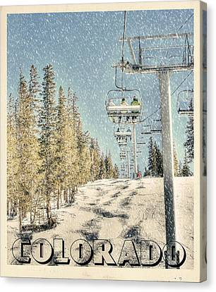 Ski Colorado Canvas Print by Juli Scalzi