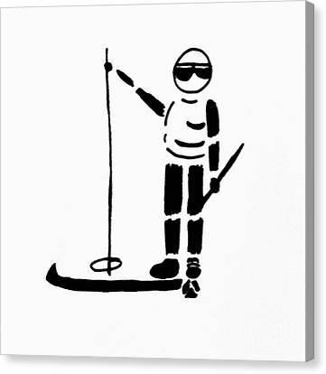 Ski Guy Canvas Print