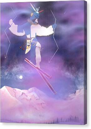 Ski Kachina Bowl Taos New Mexico Canvas Print by Anastasia Savage Ealy