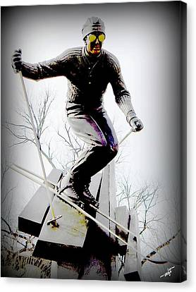 Ski On The Edge Canvas Print