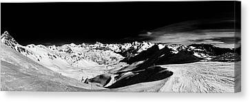 Ski Panorama Canvas Print by Contemporary Art