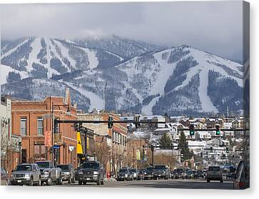 Ski Resort And Downtown Steamboat Canvas Print by Rich Reid