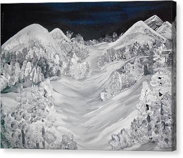 Ski Slope Canvas Print by Teresa Nash