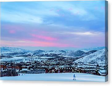 Ski Town Canvas Print