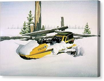 Skidoo Canvas Print by Conrad Mieschke