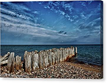 Canvas Print featuring the photograph Skies Of Superior by Rachel Cohen