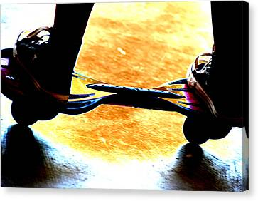 Rollerskate Canvas Print - Skill And Agility by Peter  McIntosh
