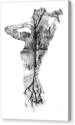 Human Head Canvas Print - Skin Deep by Stelios Kleanthous