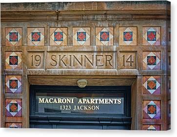 Skinner - Macaroni Apartments - Omaha Canvas Print by Nikolyn McDonald