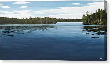 Skinners Bay Muskoka Canvas Print by Kenneth M  Kirsch