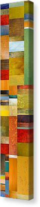 Skinny Color Study L Canvas Print by Michelle Calkins