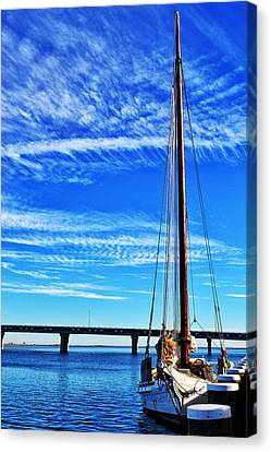 Skipjack Canvas Print by Kelly Reber