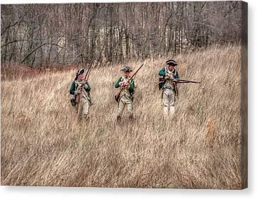 Skirmish Line Canvas Print by Randy Steele