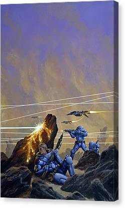 Skirmishers  Canvas Print by Richard Hescox