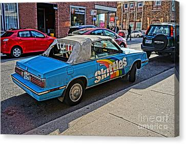 Skittles Car Canvas Print