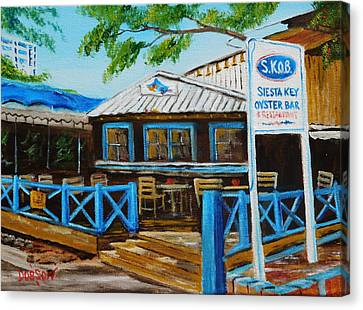 S.k.o.b. On Siesta Key Florida Canvas Print by Lloyd Dobson