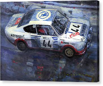1977 Canvas Print - Skoda 130 Rs #44 Monte Carlo 1977 by Yuriy Shevchuk