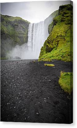 Skogafoss The Entrance To Fimmvorduhals Canvas Print